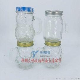 120g卡通玻璃把手杯雪人杯小菠萝杯小猫头鹰玻璃杯