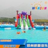 章鱼充气水滑梯 水上乐园