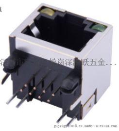 RJ45網路介面 帶LED燈 56A遮罩8P8C單口(56A-S1188L1)