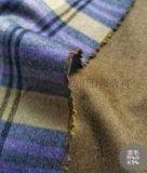 英纶风双面格子羊毛羊绒大衣面料
