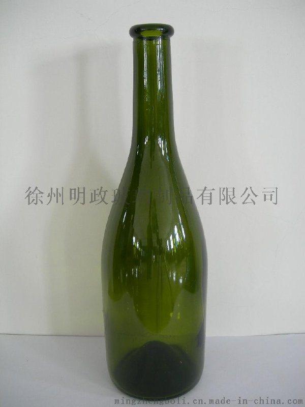 廠家生產定做 750ml墨綠色乾紅瓶    瓶