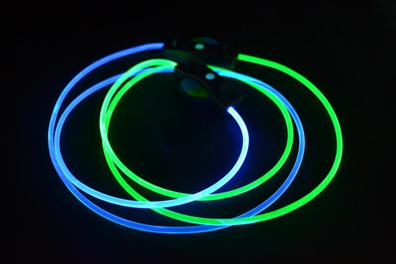供應TPU透明水晶彈力線,PU透明導光條,寵物項圈發光帶