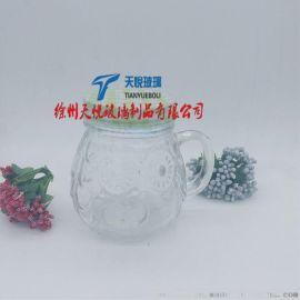 销售430毫升把手杯 猫头鹰玻璃瓶 创意玻璃杯