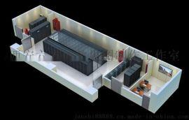 弱电机房效果图制作|拼接屏效果图设计