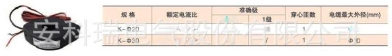 上海安科瑞AKH-0.66/K-Φ20开口式电流互感器变比100A/20mA 圆孔