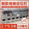 沧州天伟畜牧养猪设备公司批发供应新型母猪保胎限位栏