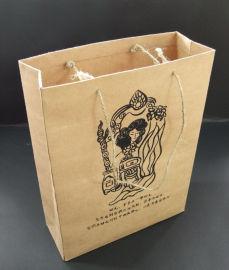购物手提袋定制可印LOGO广告印刷礼品牛皮纸袋