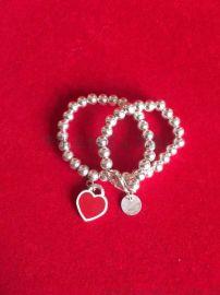 生产定制心形纯银手链999银珐琅工艺服饰配件银饰品