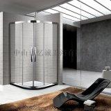 定制弧扇形淋浴房,不鏽鋼化玻璃膜浴室屏
