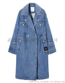 冬季服装进货该注意什么艺之卉韩版女士立领风衣