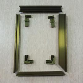 铝合金晶钢门铝材橱柜晶钢门