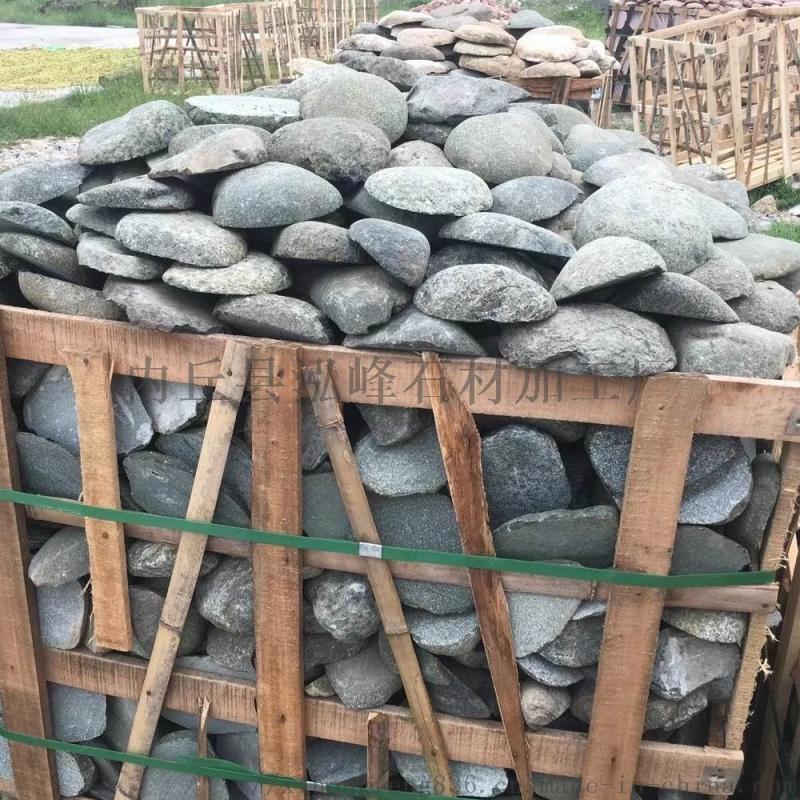 红色鹅卵石切片文化石 石笼河卵石 公园地铺鹅卵石