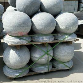 大理石小區阻車圓形路障球40公分擋車石球隔離石墩