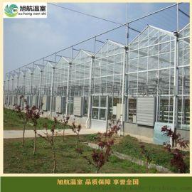连栋玻璃大棚 连栋钢架温室大棚 连栋日光温室造价