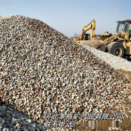 本格鹅卵石 彩色石子 彩石夜光石子 景观白色鹅卵石