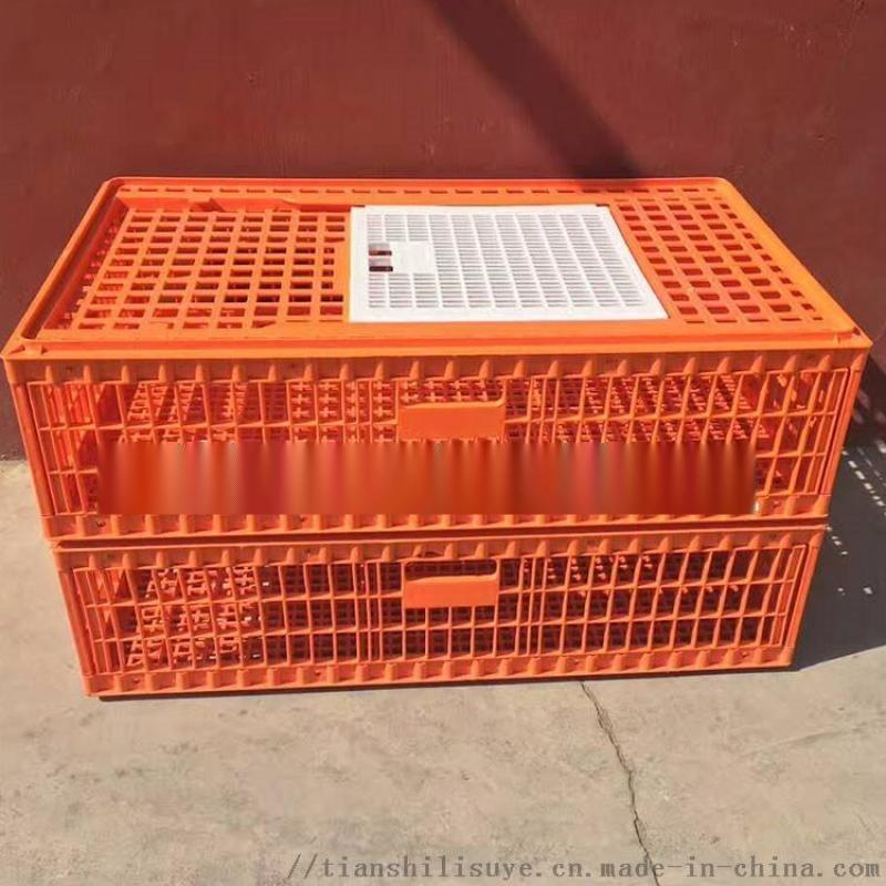 山东供应塑料大鸡笼子 大鸡运输鸡笼子