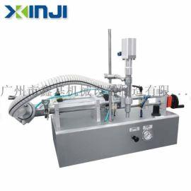 鑫基机械XJB01半自动灌装机,膏体,液体气动灌装机