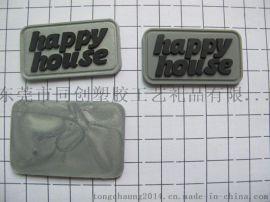 銀粉PVC膠章商標 廠家定做箱包鞋帽服裝商標輔料