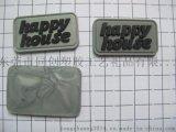 银粉PVC胶章商标 厂家定做箱包鞋帽服装商标辅料