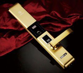 成都不锈钢304指纹锁 防盗门锁 F9900厂家