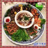 景德鎮陶瓷手繪大瓷盤 海鮮拼盤1m酒店用品瓷盤
