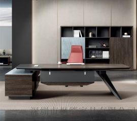 广东深圳**2.6米大班台深木纹老板桌