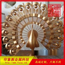不鏽鋼定制雕塑工藝品 鍍色孔雀各類定制廠家供應