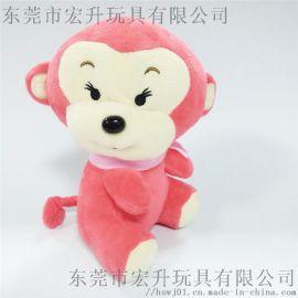 猴子吉祥物公仔可来图打样设计 定制生产玩偶