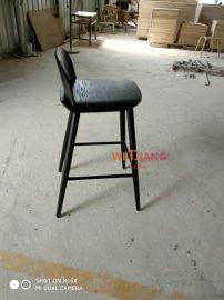 实木高脚吧椅时尚简约**吧吧台椅弯板吧凳厂家直销