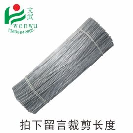 文武包装透明圆扎丝铁芯扎丝绑丝包胶铁丝玩具扎带电镀锌扎线透明