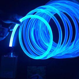 超亮5.0mm 4.0mm 3.0mm通体光纤导光条汽车氛围光纤灯铁氟龙MMA