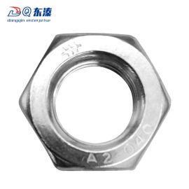 东溱紧固件厂家直销304不锈钢薄螺母 六角薄型螺母 六角螺帽