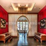 玄关隔断 酒店欧式餐厅屏风隔断 拉丝黄古铜屏风