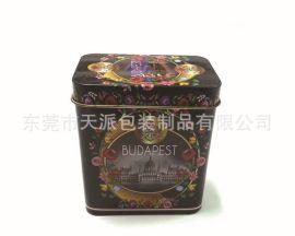 :方形梅花茶金属罐、茶叶包装铁罐
