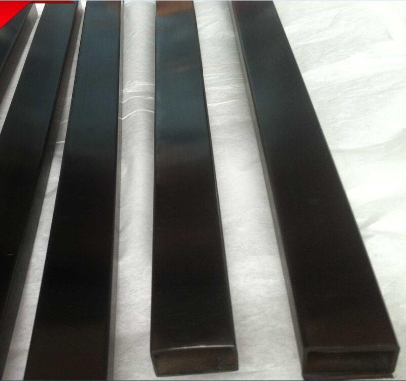 鈦金不鏽鋼方管 佛山拉絲黑鈦不鏽鋼管