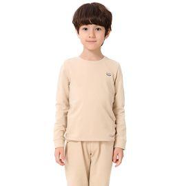 乐背尔秋季童套装 纯色纯棉男童家居服品牌儿童内衣厂家直销