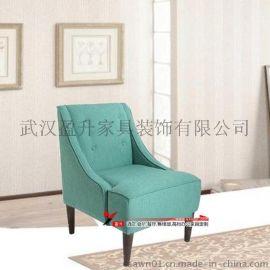 TB-CD01西餐厅咖啡厅蓝色布艺沙发