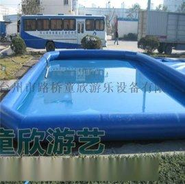 大型水上闖關充氣移動水上樂園衝關設備組合支架水池