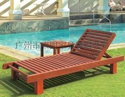 沙滩椅户外家具折叠实木躺椅