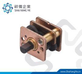 直径12mm正齿轮减速箱微型减速机专用SHAYANGYE齿轮箱RA12W