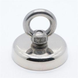 钕铁硼强力磁铁吸铁石高强度圆形吊坠磁钢大号打捞神器磁王