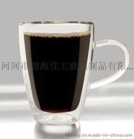 玻璃双层杯/隔热防烫/纯手工吹制/耐高温玻璃杯