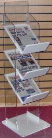 立式多层: 亚克力A3报纸架,A4杂志陈列架,定制生产