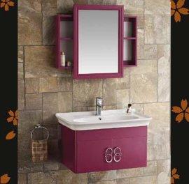 加西格乐-居然居ss-814太空铝浴室柜挂墙陶瓷盆