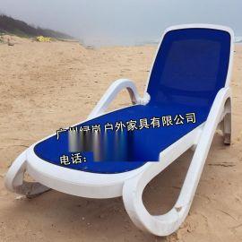 海口户外泳池躺椅批发供应ABS全塑料折叠躺椅