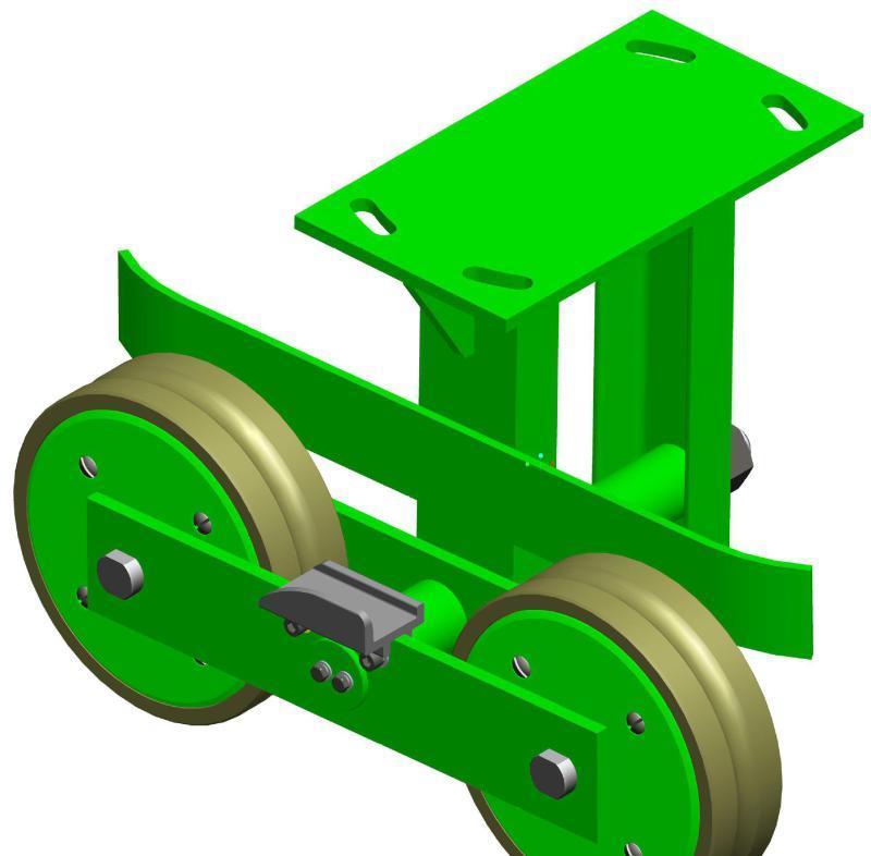 猴车双托轮组件 248 人车配件