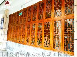 重慶仿古門窗廠家,重慶實木大門花格雕花門窗定做廠家