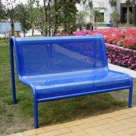 户外公园长椅生产 钢木景观成品座椅