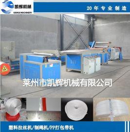 新疆草场网状撕裂膜机,PP/PE塑料捆扎绳生产机械