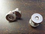 磁鐵廠家直銷箱包磁扣,金屬有腳磁紐扣雙撞釘磁扣D14MM